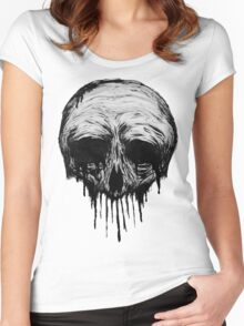 Ink Skull Women's Fitted Scoop T-Shirt