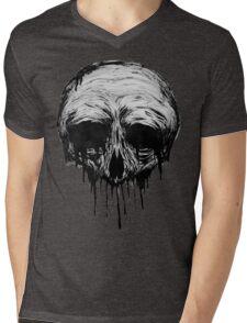 Ink Skull Mens V-Neck T-Shirt