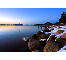 Evening on the Shore of Tahoe Photographic Print