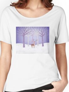 Deer - Squirrel - Winter - Snow - Forest Women's Relaxed Fit T-Shirt