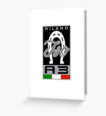 Bizzarrini ISO 1964 A3C Grifo Concept Badge Greeting Card