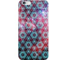 Spiderman Nebula [Happy Blue] | Sacred Geometry Patterns iPhone Case/Skin