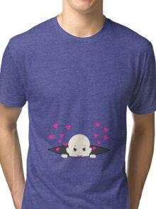 Baby Peek-a-Boo Maternity Tri-blend T-Shirt