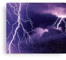 Storm Clouds and Lightning Canvas Print