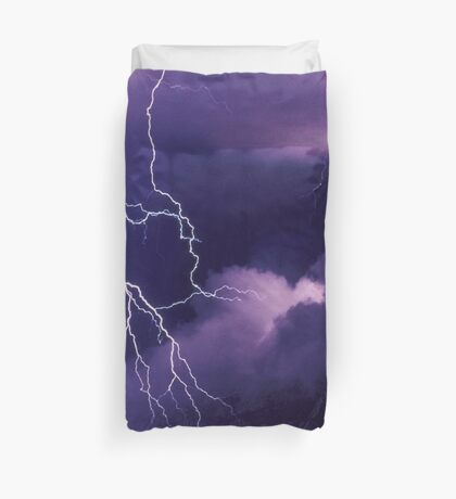 Storm Clouds and Lightning Duvet Cover