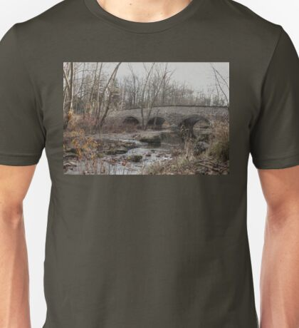 The Stone Arch Bridge Over The Unami Creek at Sumneytown PA USA Unisex T-Shirt