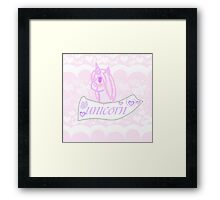 Cute Unicorn Framed Print