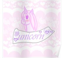 Cute Unicorn Poster