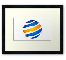 circle-sphere-global-logo Framed Print