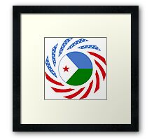 Djibouti American Multinational Patriot Flag Series Framed Print