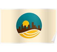 city-landscape logo Poster