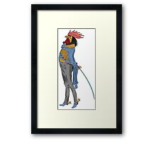 RHYS THE ROOSTER. Framed Print