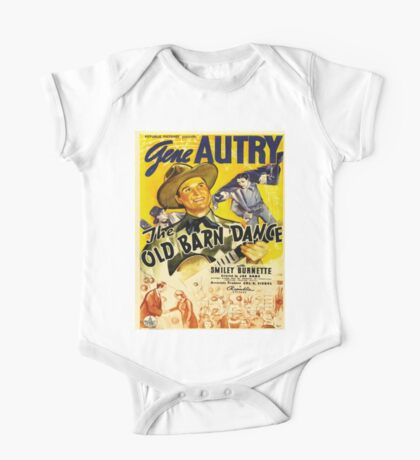 Vintage poster - The Old Barn Dance One Piece - Short Sleeve