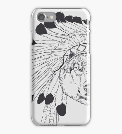 Indian Wolf Chief iPhone Case/Skin