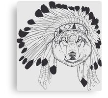 Indian Wolf Chief Canvas Print
