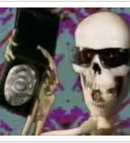 Skeleton Police Sticker