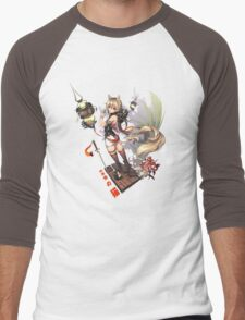 Skull Kitty Men's Baseball ¾ T-Shirt