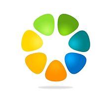 color-flower-logo by mydigitall