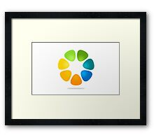 color-flower-logo Framed Print