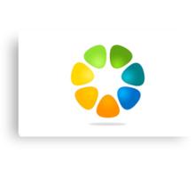 color-flower-logo Canvas Print