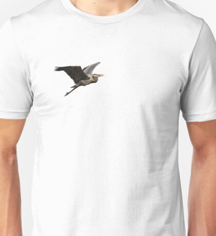 Isolated Great Blue Heron 2015-3 Unisex T-Shirt