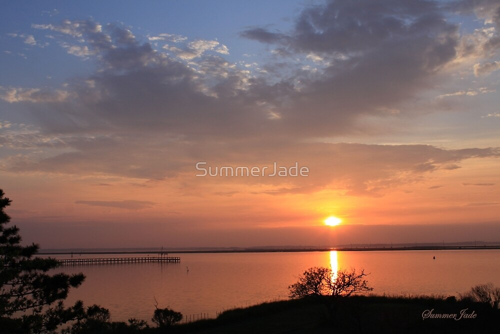 Natural Island Sunset ~ Chincoteague by SummerJade