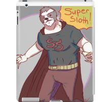 Super sloth  iPad Case/Skin