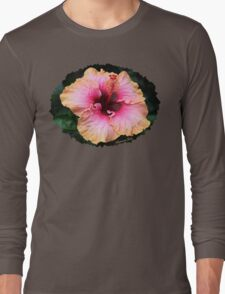 Fancy Tri-color Hibiscus ~ Magical Long Sleeve T-Shirt