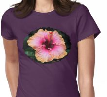 Fancy Tri-color Hibiscus ~ Magical Womens Fitted T-Shirt