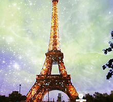 Eiffel Tower, Starry Night by LLStewart