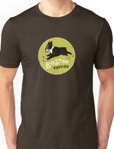 Vintage Style Boston Terrier Unisex T-Shirt