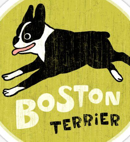 Vintage Style Boston Terrier Sticker