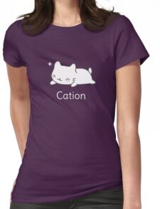 Funny Cat T-shirt for Science Lovers  Womens Fitted T-Shirt