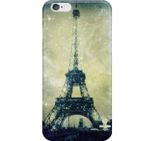 Eiffel Tower, Starry Night, Distressed iPhone Case/Skin