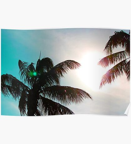 Beach blues Poster