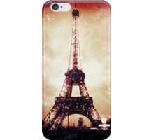 Eiffel Tower, Starry Night, Red iPhone Case/Skin