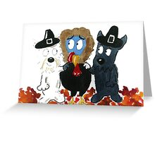 Tommy & 'Archy are looking forward to Thanksgiving' Greeting Card