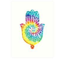 Tie Dye Hamsa Art Print