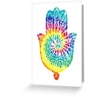 Tie Dye Hamsa Greeting Card