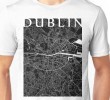 Dublin Map (Black) Unisex T-Shirt