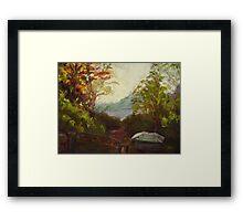 Leura - dusk Framed Print