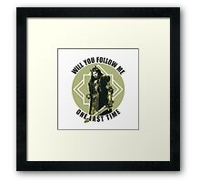 Will You Follow Me Framed Print