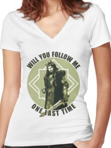 Will You Follow Me Women's Fitted V-Neck T-Shirt