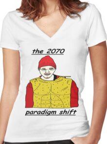 Tundra Comics: Paradigm Shift Women's Fitted V-Neck T-Shirt
