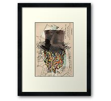 BEARD HEAD. Framed Print