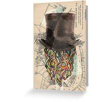 BEARD HEAD. Greeting Card