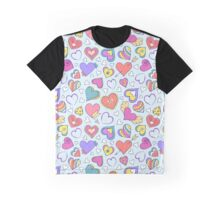 colorful hearts Graphic T-Shirt