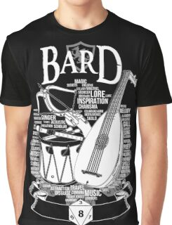RPG Class Series: Bard - White Version Graphic T-Shirt