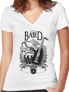 RPG Class Series: Bard - Black Version Women's Fitted V-Neck T-Shirt