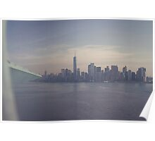 View of Manhattan Island from the Crown of the Statue of Liberty Poster